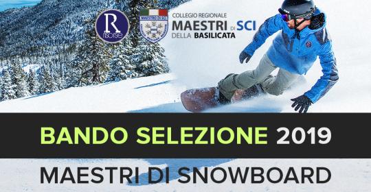 SELEZIONE ASPIRANTI MAESTRI DI SNOWBOARD 2019